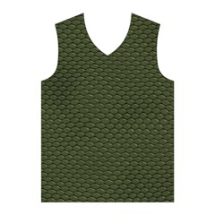 GREEN REPTILE SKIN Men s Basketball Tank Top