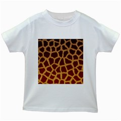 GIRAFFE HIDE Kids White T-Shirts