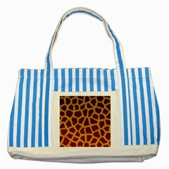 GIRAFFE HIDE Striped Blue Tote Bag