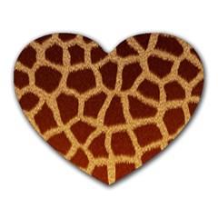 GIRAFFE HIDE Heart Mousepads