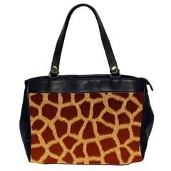 GIRAFFE HIDE Office Handbags (2 Sides)