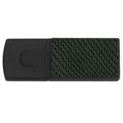 DARK GREEN SCALES USB Flash Drive Rectangular (2 GB)