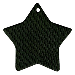 DARK GREEN SCALES Star Ornament (Two Sides)