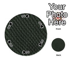 Dark Green Scales Playing Cards 54 (round)