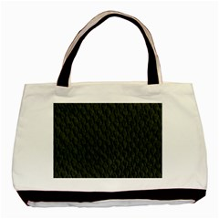 DARK GREEN SCALES Basic Tote Bag (Two Sides)