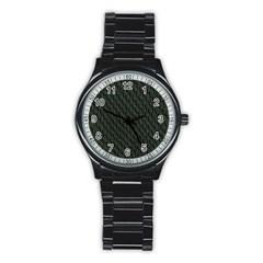 DARK GREEN SCALES Stainless Steel Round Watches