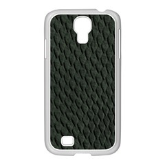 DARK GREEN SCALES Samsung GALAXY S4 I9500/ I9505 Case (White)