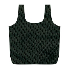 DARK GREEN SCALES Full Print Recycle Bags (L)