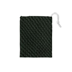 DARK GREEN SCALES Drawstring Pouches (Small)
