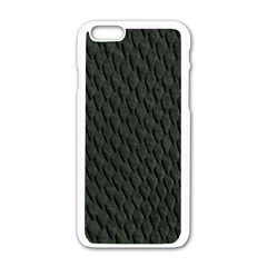 DARK GREEN SCALES Apple iPhone 6/6S White Enamel Case