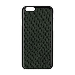 DARK GREEN SCALES Apple iPhone 6/6S Black Enamel Case