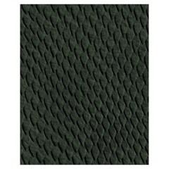 Dark Green Scales Drawstring Bag (small)