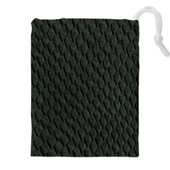 DARK GREEN SCALES Drawstring Pouches (XXL)