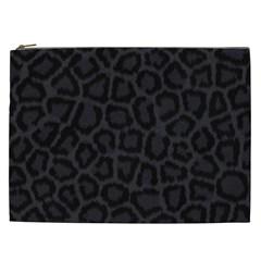 BLACK LEOPARD PRINT Cosmetic Bag (XXL)