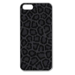 BLACK LEOPARD PRINT Apple Seamless iPhone 5 Case (Clear)