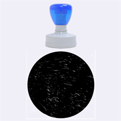 Black Cat Fur Rubber Round Stamps (large)