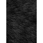 BLACK CAT FUR Heart Bottom 3D Greeting Card (7x5)  Inside