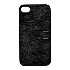 BLACK CAT FUR Apple iPhone 4/4S Hardshell Case with Stand
