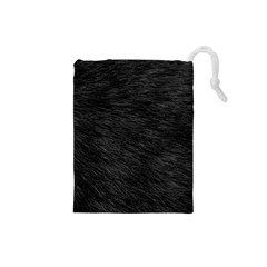 BLACK CAT FUR Drawstring Pouches (Small)