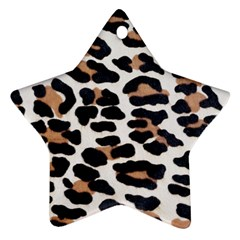 BLACK AND BROWN LEOPARD Ornament (Star)
