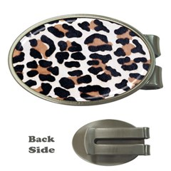 BLACK AND BROWN LEOPARD Money Clips (Oval)