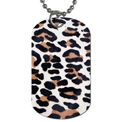 BLACK AND BROWN LEOPARD Dog Tag (Two Sides)
