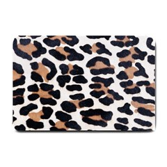 BLACK AND BROWN LEOPARD Small Doormat