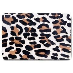 BLACK AND BROWN LEOPARD Large Doormat
