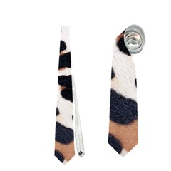 Black And Brown Leopard Neckties (two Side)
