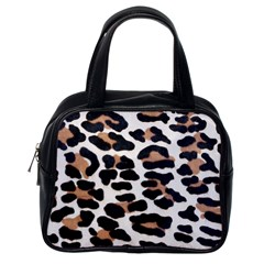 BLACK AND BROWN LEOPARD Classic Handbags (One Side)