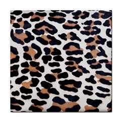 BLACK AND BROWN LEOPARD Face Towel
