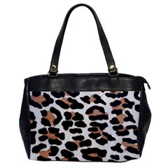 BLACK AND BROWN LEOPARD Office Handbags