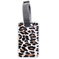 BLACK AND BROWN LEOPARD Luggage Tags (One Side)