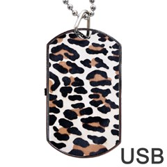BLACK AND BROWN LEOPARD Dog Tag USB Flash (Two Sides)