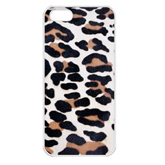 BLACK AND BROWN LEOPARD Apple iPhone 5 Seamless Case (White)