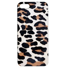 BLACK AND BROWN LEOPARD Apple iPhone 5 Hardshell Case with Stand