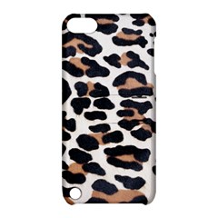BLACK AND BROWN LEOPARD Apple iPod Touch 5 Hardshell Case with Stand