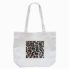 BLACK AND BROWN LEOPARD Tote Bag (White)