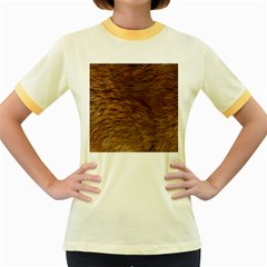 BEAR FUR Women s Fitted Ringer T-Shirts