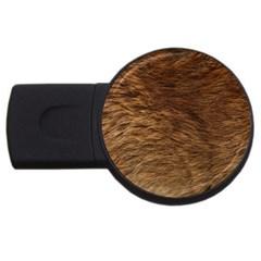 Bear Fur Usb Flash Drive Round (2 Gb)