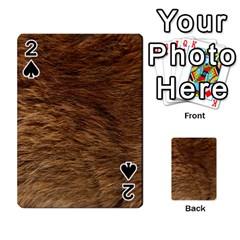 BEAR FUR Playing Cards 54 Designs