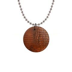 ALLIGATOR SKIN Button Necklaces