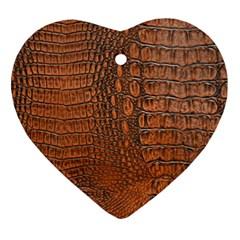 ALLIGATOR SKIN Heart Ornament (2 Sides)