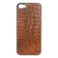 ALLIGATOR SKIN Apple iPhone 5 Case (Silver)