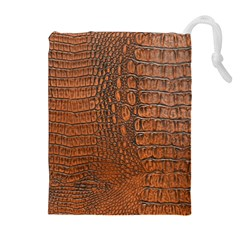 Alligator Skin Drawstring Pouches (extra Large)