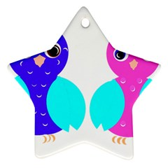 Owl couple  Ornament (Star)