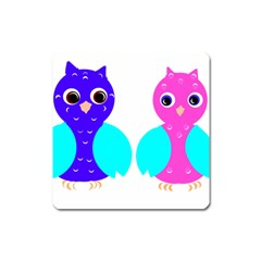 Owl couple  Square Magnet