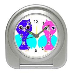 Owl couple  Travel Alarm Clocks