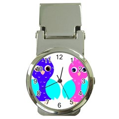 Owl couple  Money Clip Watches