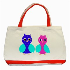 Owl couple  Classic Tote Bag (Red)